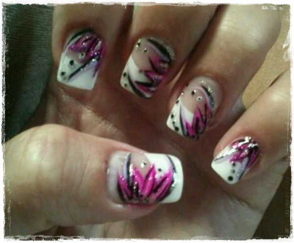 Acrylic Nail Art Designs 31