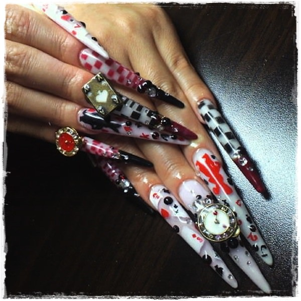 Acrylic Nail Art Designs 46