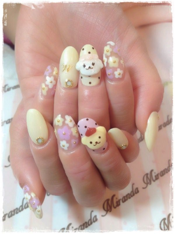 Acrylic Nail Art Designs 54