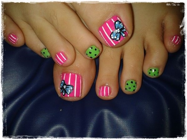 Pink And White Toe Nail Designs Toe Nail Designs 2