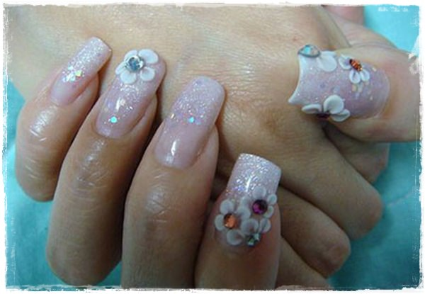 55 cool acrylic nail art designs that drop your jaw off fake nail designs 1 prinsesfo Image collections