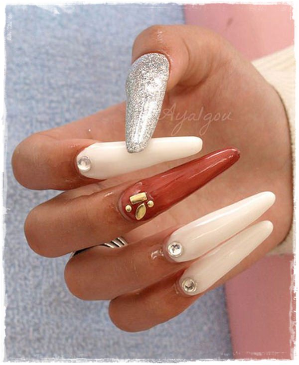 ... fake nail designs 4 ... - 55 Cool Acrylic Nail Art Designs That Drop Your Jaw Off