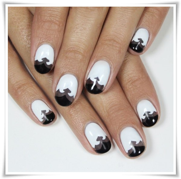 Black And White Nail 17