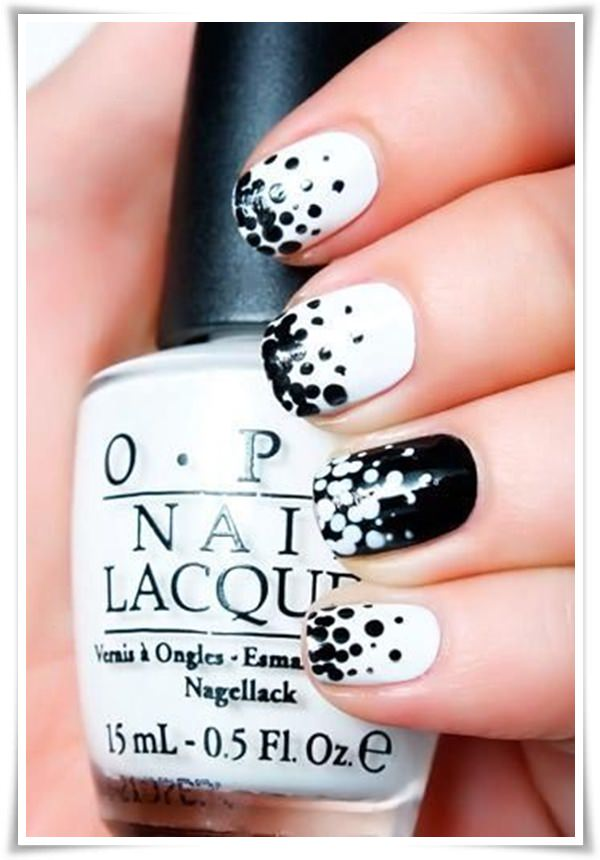 black and white nail 18