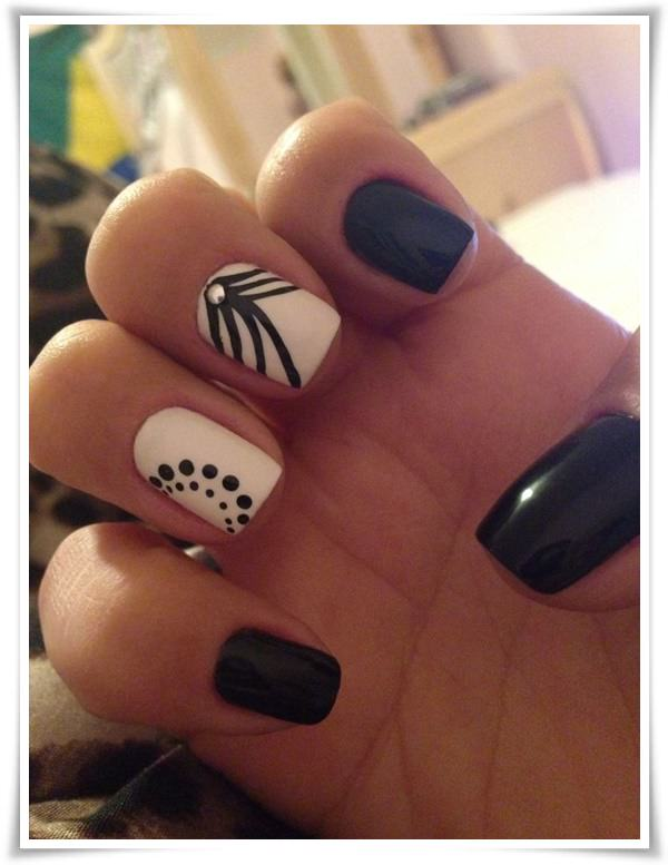 Black And White Nail 2