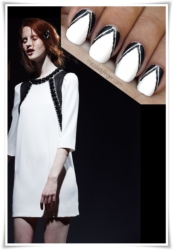Black And White Nail 33