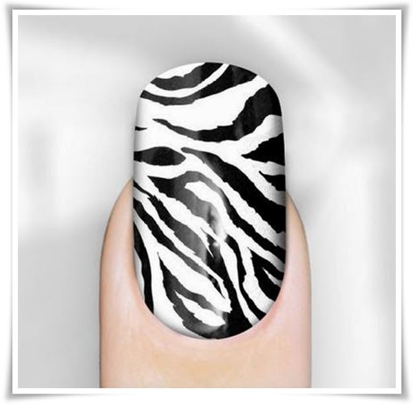 Black And White Nail 40