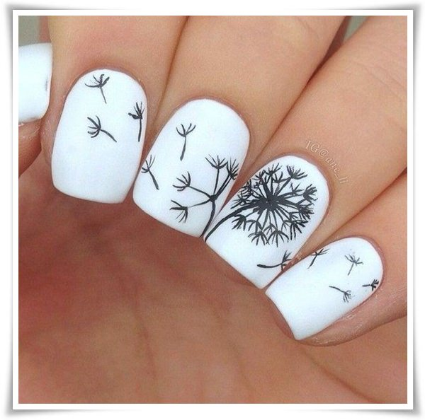 Black And White Nail 7
