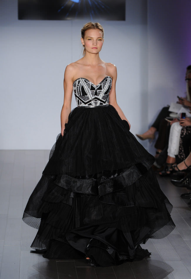 Black White Wedding Dresses 1