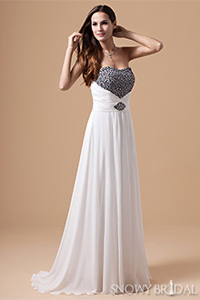 Black White Wedding Dresses 10