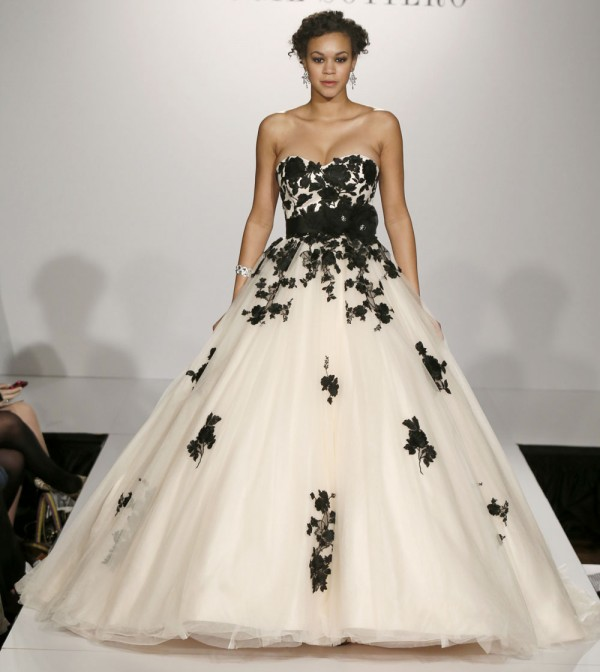 Black White Wedding Dresses 15
