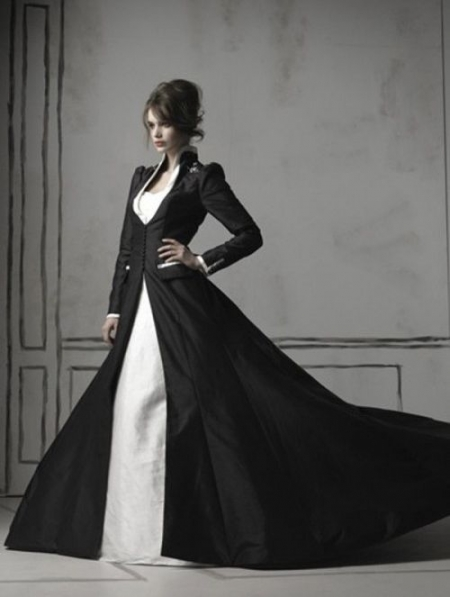 35 Black & White Wedding Dresses with Edgy Elegance