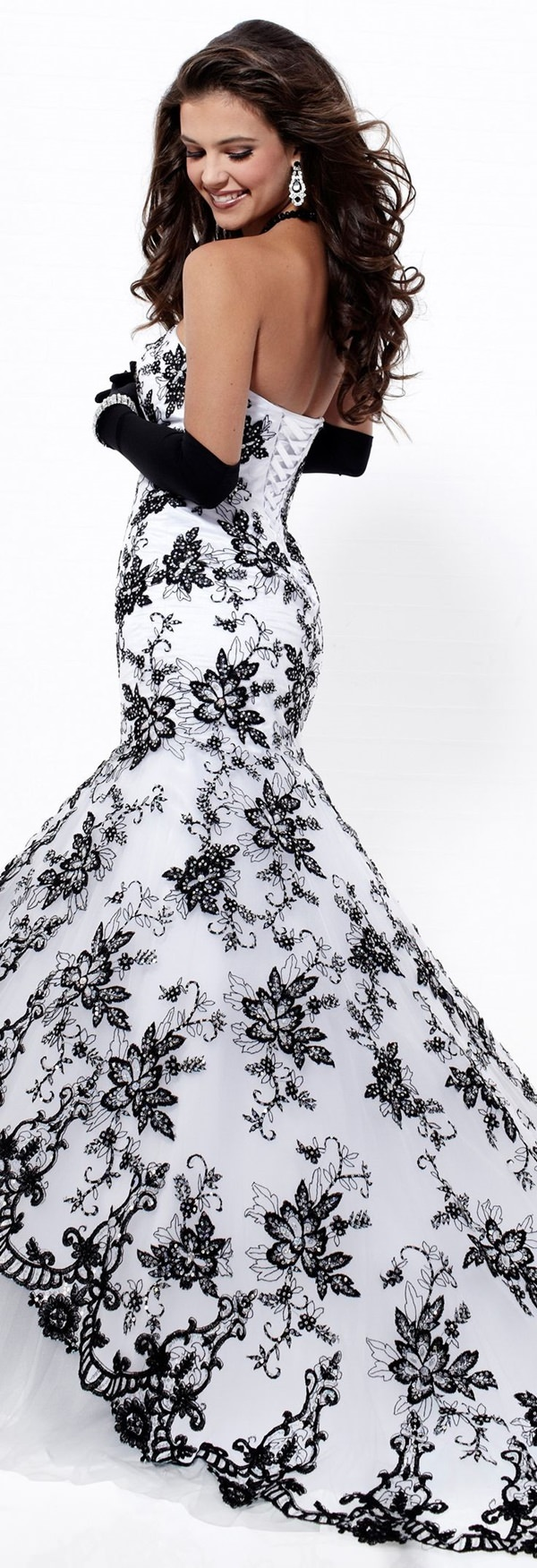 Black White Wedding Dresses 3