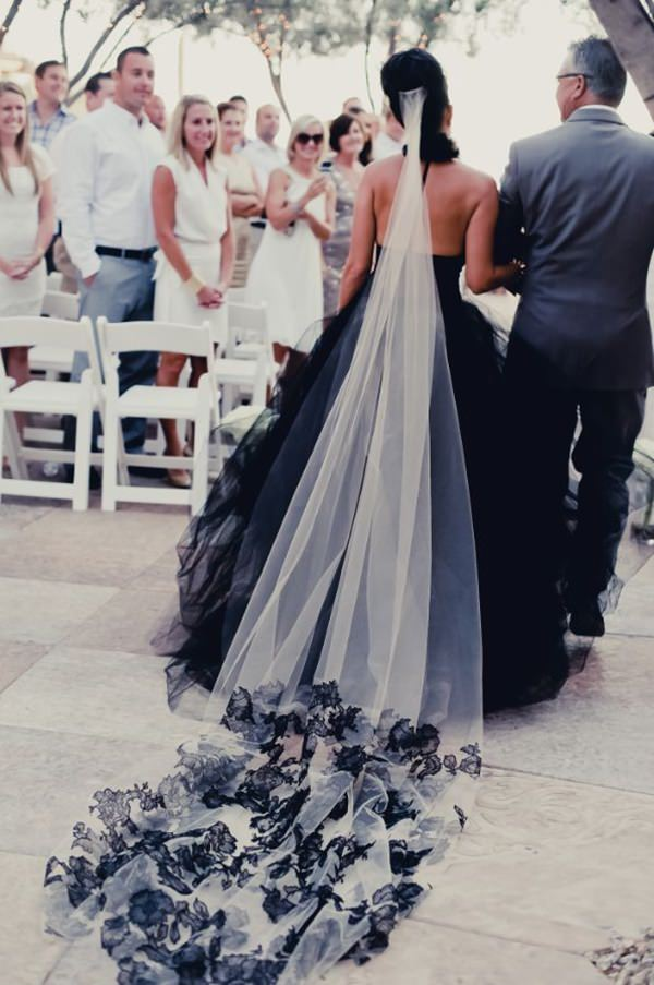 Black White Wedding Dresses 7