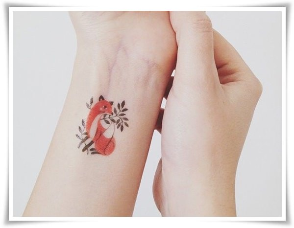 fox tattoos for girls