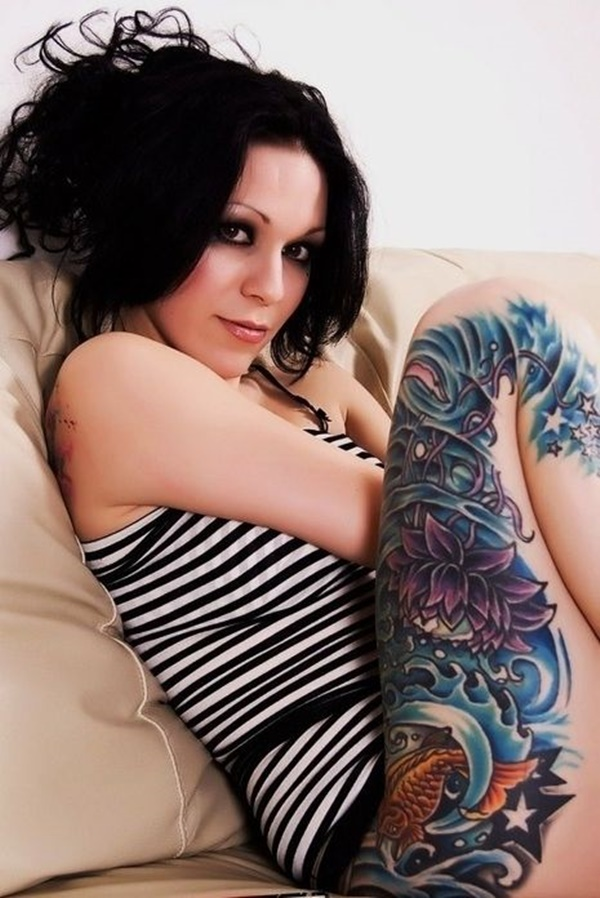 Sexy Thigh Tattoo Ideas and Designs for Women101