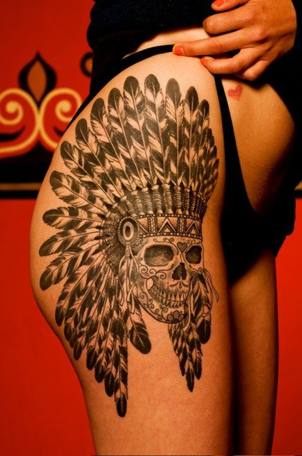 Sexy Thigh Tattoo Ideas and Designs for Women19