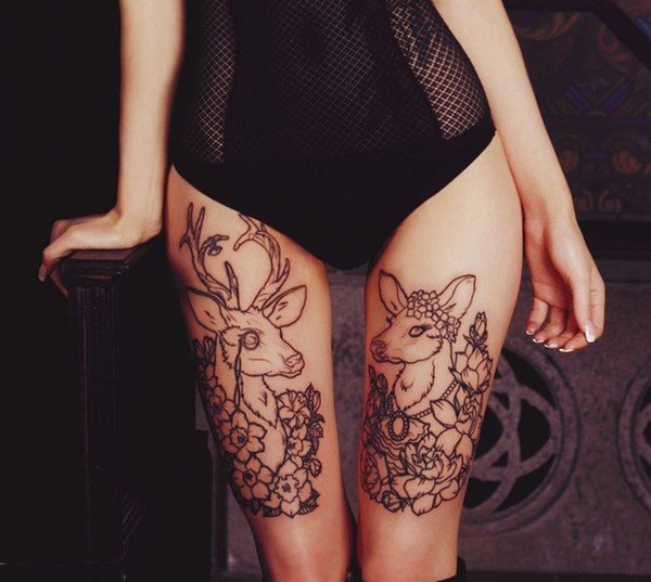 Sexy Thigh Tattoo Ideas and Designs for Women21