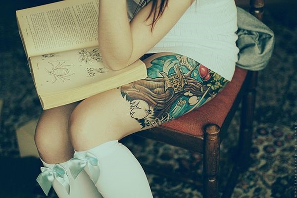 Sexy Thigh Tattoo Ideas and Designs for Women23