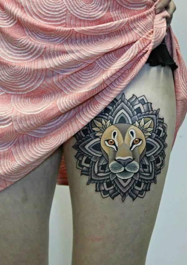 Sexy Thigh Tattoo Ideas and Designs for Women33