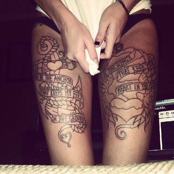 Sexy Thigh Tattoo Ideas and Designs for Women42