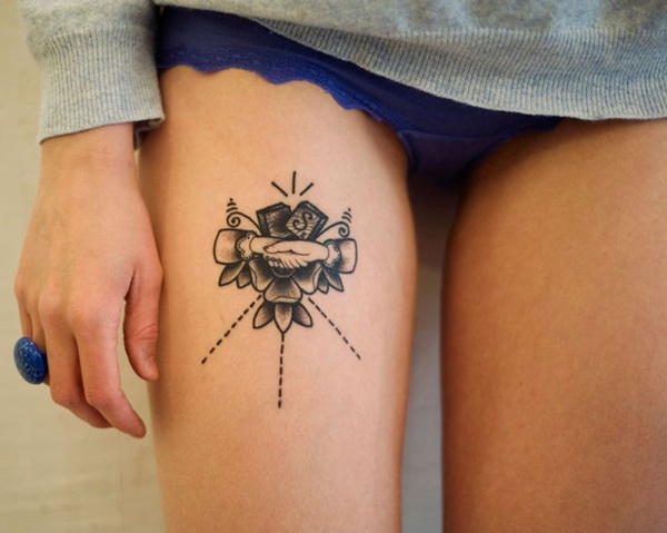 Sexy Thigh Tattoo Ideas and Designs for Women47