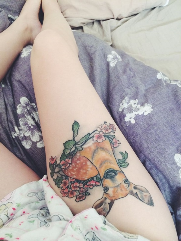 Sexy Thigh Tattoo Ideas and Designs for Women51