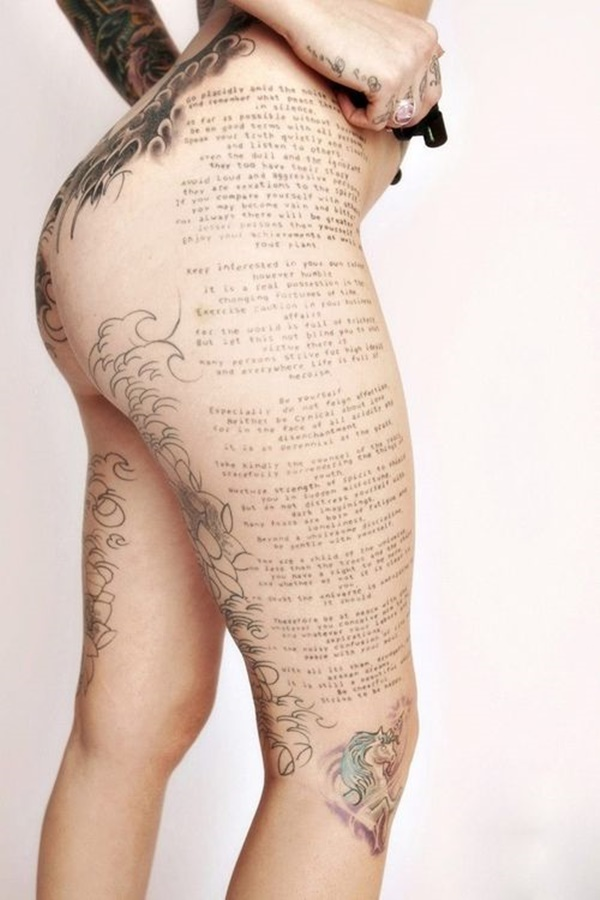 Sexy Thigh Tattoo Ideas and Designs for Women63