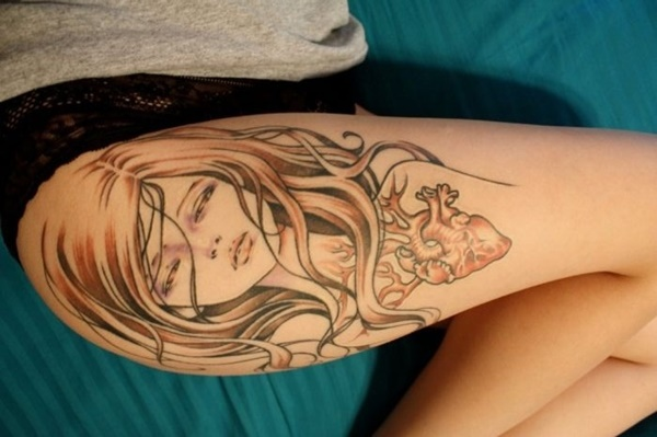 Sexy Thigh Tattoo Ideas and Designs for Women64