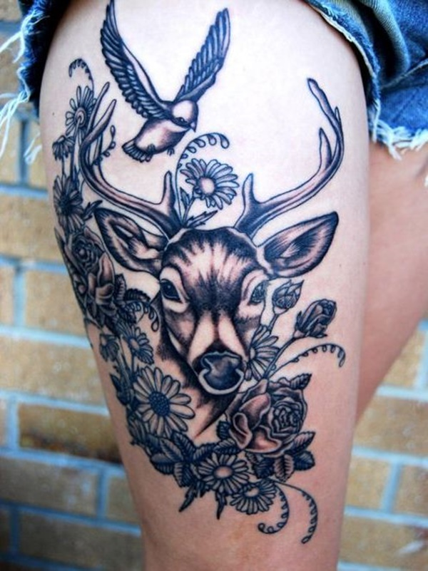 Sexy Thigh Tattoo Ideas and Designs for Women66