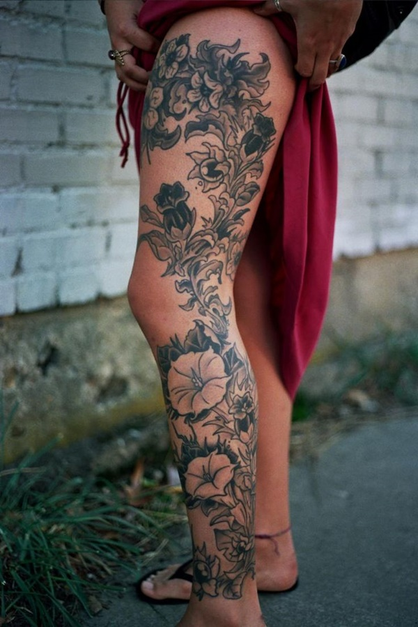 Sexy Thigh Tattoo Ideas and Designs for Women69