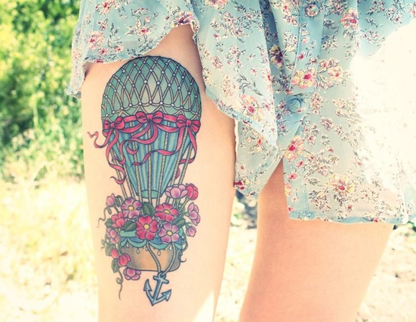 Sexy Thigh Tattoo Ideas and Designs for Women7