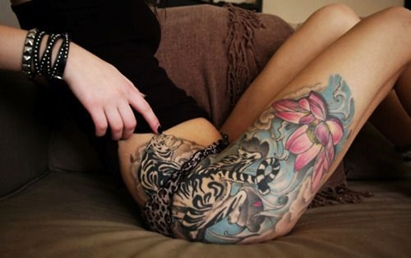 Sexy Thigh Tattoo Ideas and Designs for Women77