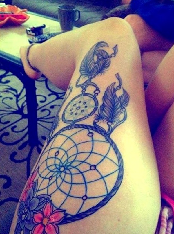 Sexy Thigh Tattoo Ideas and Designs for Women81