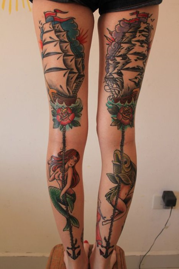 Sexy Thigh Tattoo Ideas and Designs for Women90