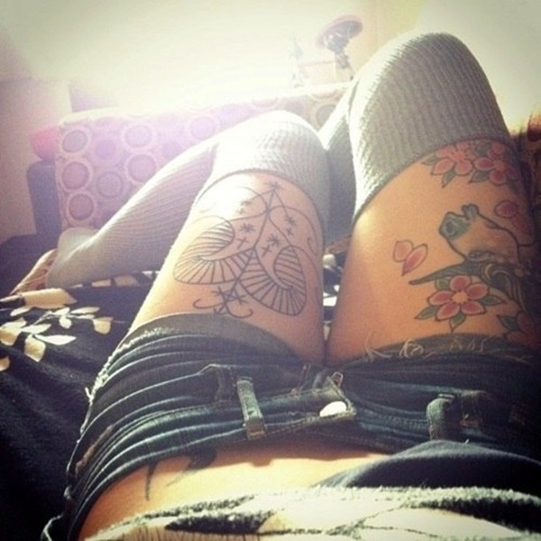 Sexy Thigh Tattoo Ideas and Designs for Women94