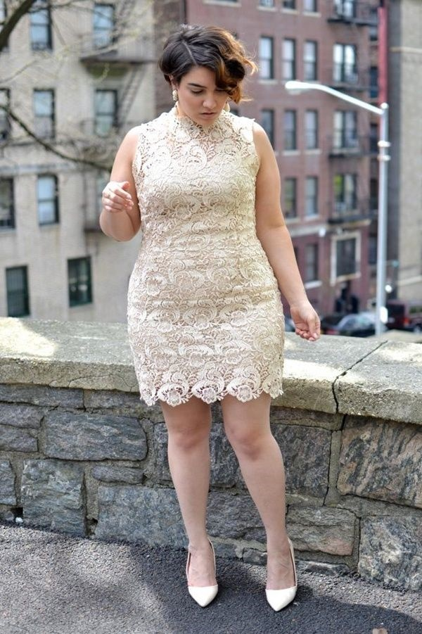 Sexy Tight Short Dresses for Girls78-Plus size Lace Dress