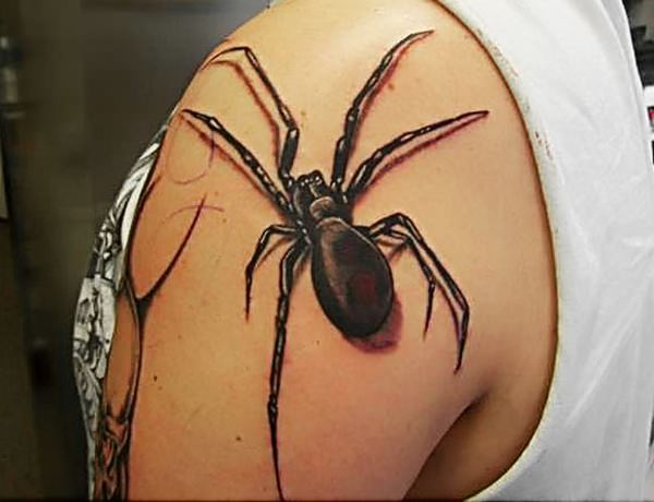 48f40fa94 A bigger spider makes for an even more badass – and more frightening – 3D  tattoo design.