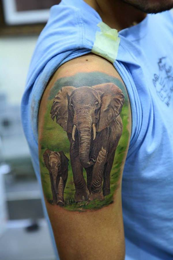 66 spectacular elephant tattoo designs with meanings. Black Bedroom Furniture Sets. Home Design Ideas