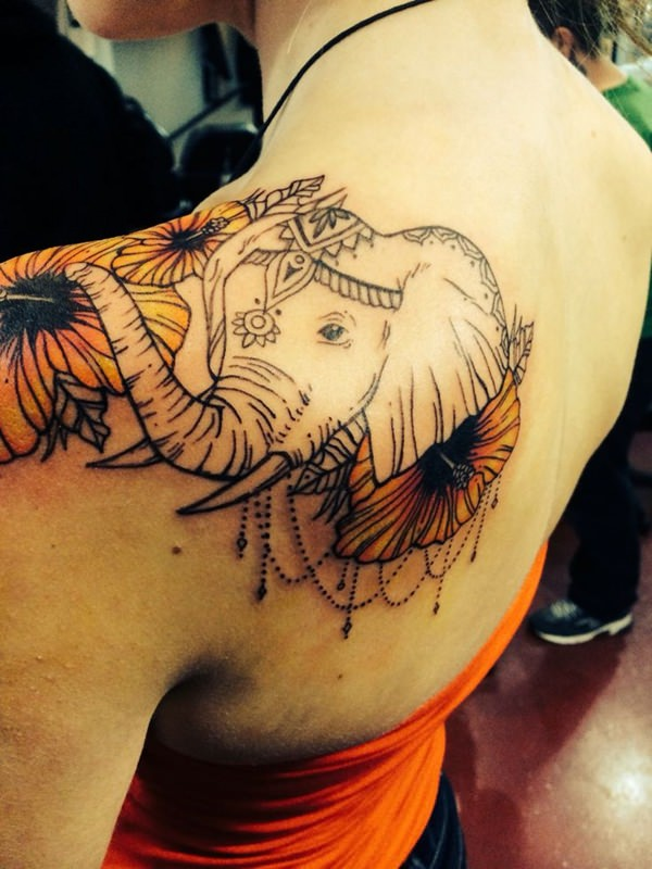 515bffde9a533 66 Spectacular Elephant Tattoo Designs (With Meanings)