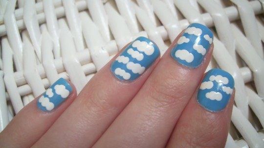 fluffy cloud nails