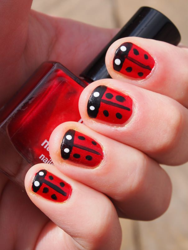 ladybird nail red