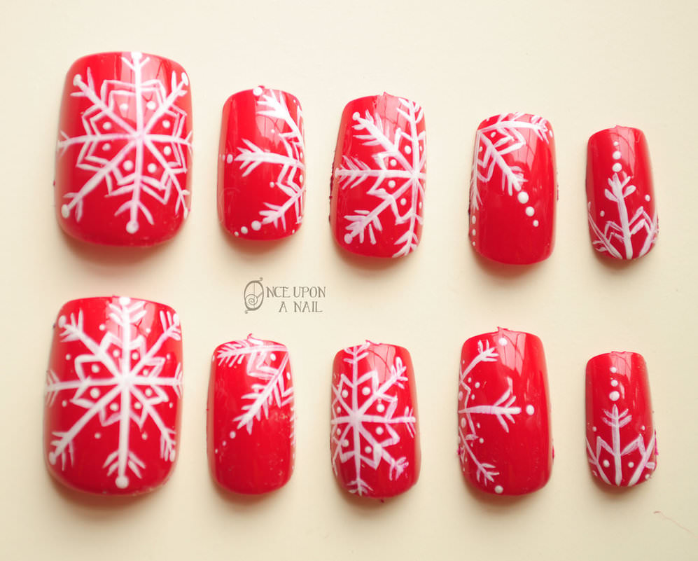 red snow nails