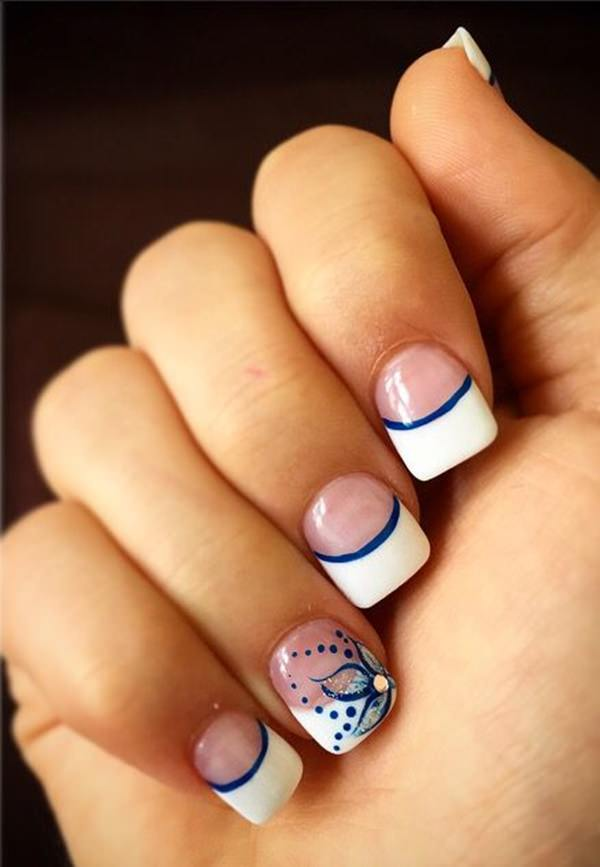 f12 - 55 Gorgeous French Tip Nail Designs For A Classy Manicure