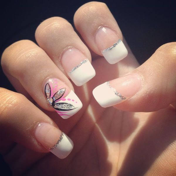 f18 - 55 Gorgeous French Tip Nail Designs For A Classy Manicure