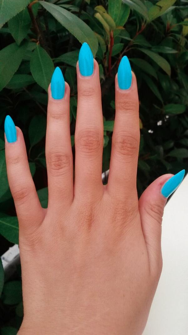 Stiletto Nails Fake Nails Matte Nails Blue Press On Nails: 45 Glamorous Stiletto Nail Designs To Obsess Over
