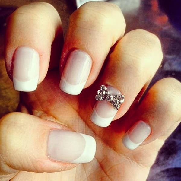 55 gorgeous french tip nail designs for a classy manicure pic prinsesfo Gallery