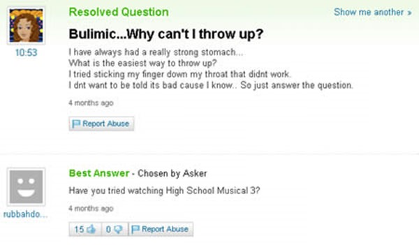24230316 Funny Yahoo Answer High School
