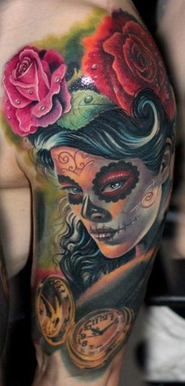 day of the dead tattoos 14