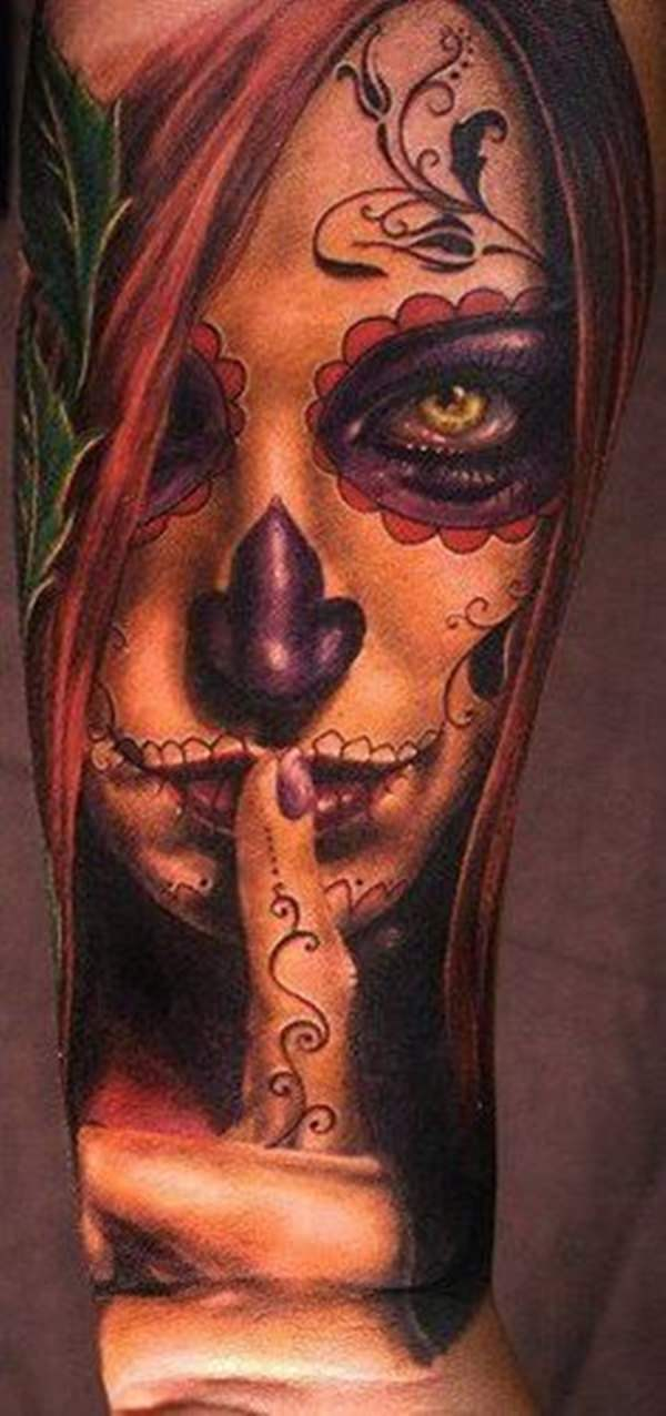 bec601a3e3162 60+ Day of the Dead Tattoos You Will Want to Get ASAP